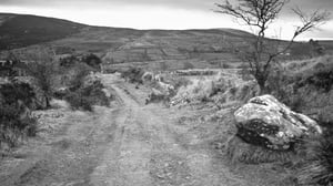 A mountain road as documented in Jo Kerrigan's fascinating new book, Follow the Old Road, with photographs by Richard Mills.