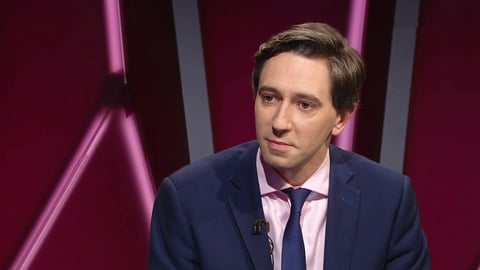 Minister Simon Harris | Claire Byrne Live