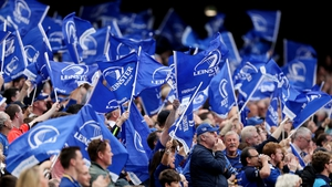 Leinster fans celebrate as the province completed a glorious year on the pitch with Pro 14 victory on Saturday