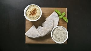 A delicious dip, try it with hummus, flatbread and olives in a mezze meal.
