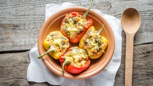 Cheesy Stuffed Sweet Peppers