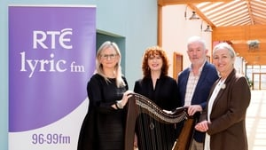 (Pictured L-R) RTÉ Director General Dee Frobes, harpist Máire Ní Chathasaigh, RTÉ lyric fm Station Head Aodán O Dubhghaill and presenter Ellen Cranitch.