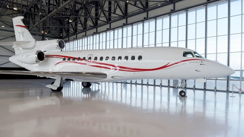 The Dassault Falcon 7X jet can fly from Paris to Tokyo on a single tank of fuel