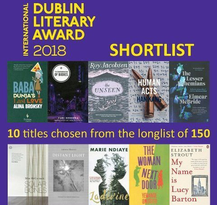 "International Dublin Literary Award shortlist - ""Human Acts"" by Han Kang and ""The Unseen"" by Roy Jacobsen"