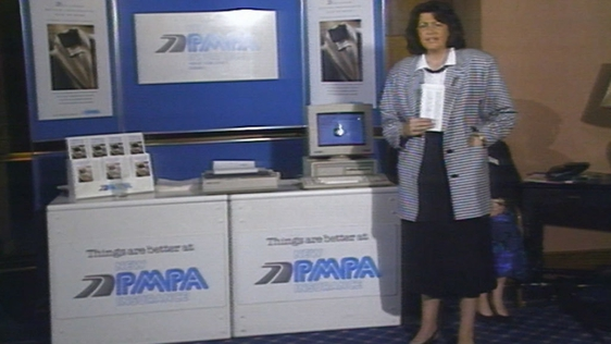 Máire Geoghan-Quinn at New PMPA launch of car insurance for women (1988)