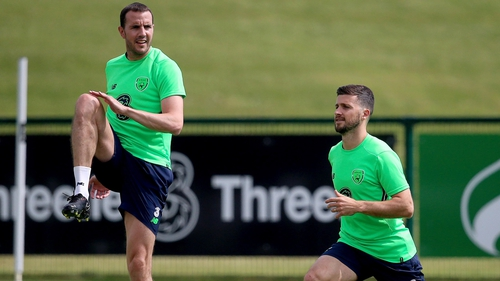 John O'Shea will play, while Shane Long (R) misses out
