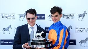 Aidan O'Brien pictured with his son Donnacha.