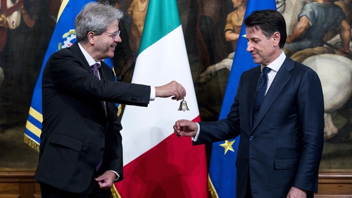 A new Italian government  was confirmed by parliament on Wednesday