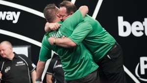 Darly Gurney and Brendan Dolan celebrate their win
