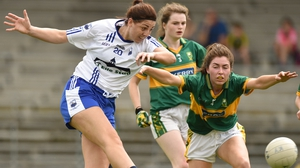 Michelle Ryan of Waterford in action against Eilis Lynch of Kerry