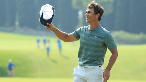 Thorbjorn Olesen celebrates his win
