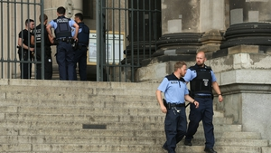 Police cordon off the Berlin Cathedral in Germany after the incident