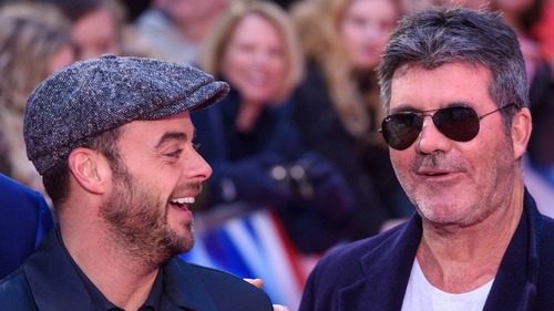 """Simon Cowell with Ant McPartlin at Britain's Got Talent at the London Palladium in January - """"I'm almost certain he'll be back next year"""""""