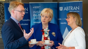 Abtran CEO Pat Ryan, Business, Enterprise and Innovation Minister Heather Humphreys and Enterprise Ireland CEO Julie Sinnamon