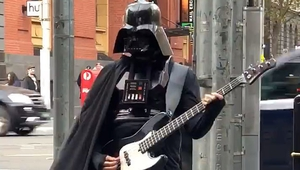 Darth Busker video goes viral on Facebook