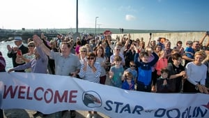 Crowds greet the new vessel 'Star of Doolin' early this morning