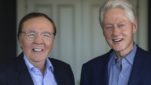 James Patterson and Bill Clinton, co-authors of The President Is Missing. Pic: David Burnett