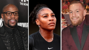 Floyd Mayweather topped the list, with Conor McGregor fourth, but Serena Williams dropped off the list