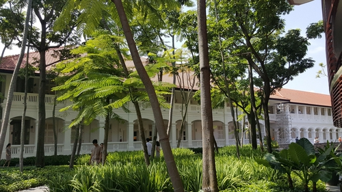 The Capella Hotel on Sentosa island where the highly anticipated meeting will take place