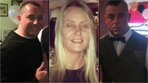 (L-R) Thomas Fox, Regina Keogh and her brother Jonathan are accused of murdering Gareth Hutch in May 2016