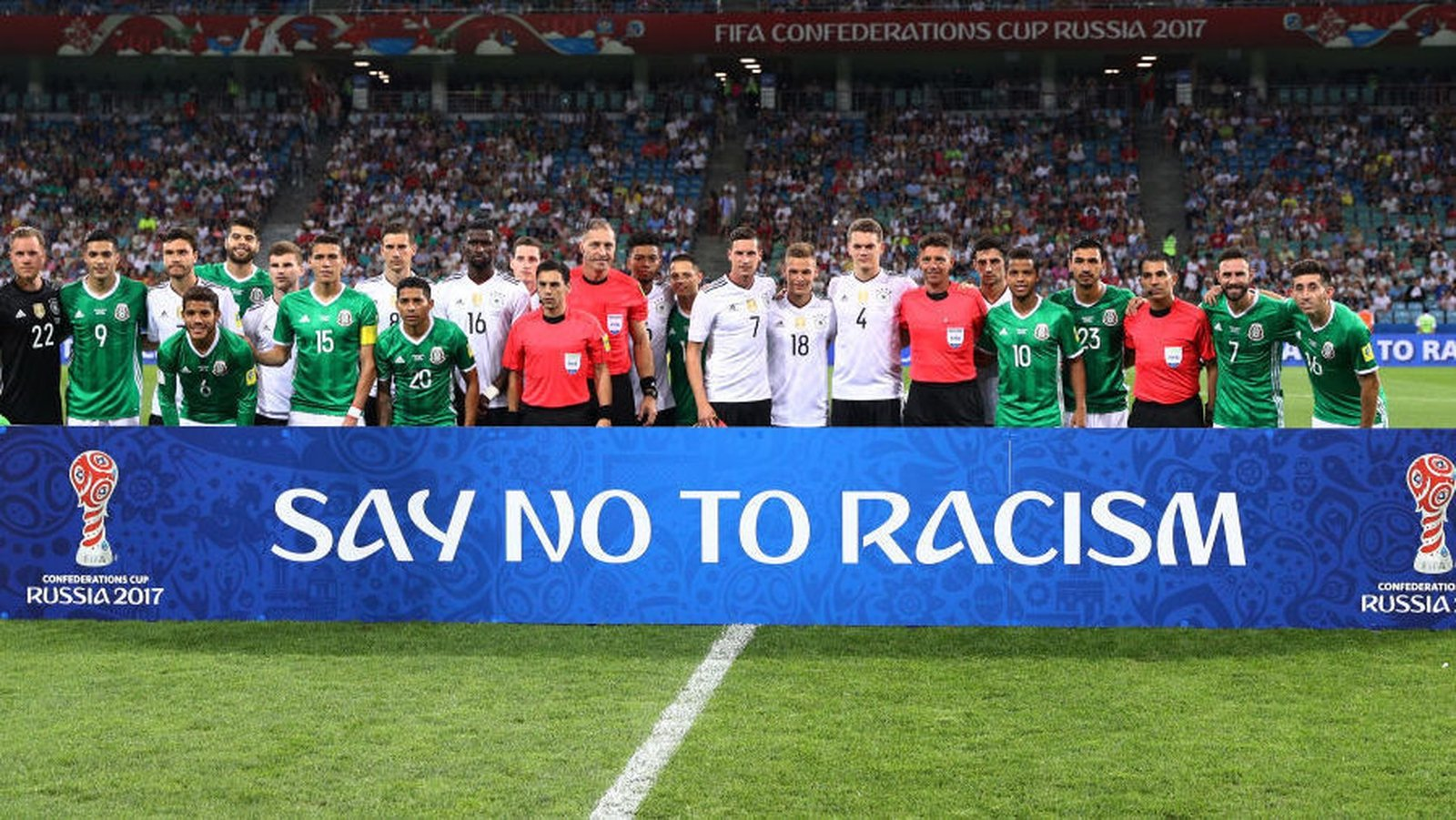 Referees can abandon World Cup games to tackle racism