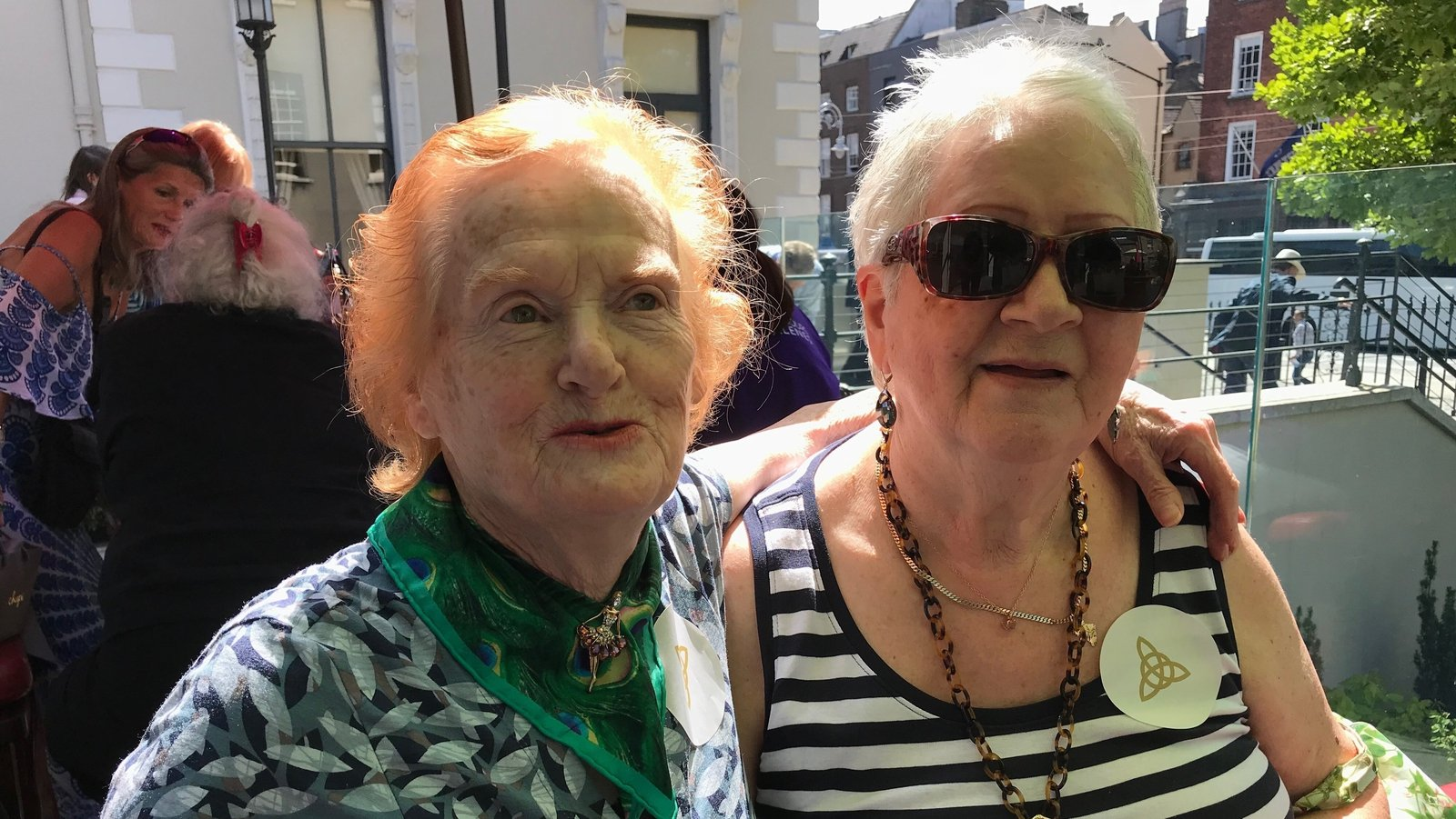 Image - Philomena Cunningham with her friend Josephine Anderson