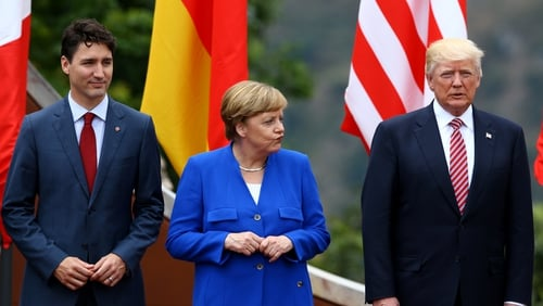 Donald Trump has had a number of rows with his fellow G7 leaders