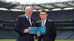 GAA president John Horan (L) and Ard Stiúrthóir Tom Ryan launched the plan at Croke Park