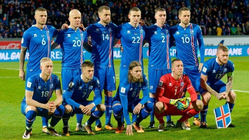 f88c385f3 The Iceland team who beat Kosovo to confirm their place at the World Cup