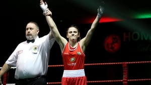 The Irish featherweight beat Helina Bruyevich, her second victory over the tough Belarusian, on a split decision after a tight 57kg quarter-final.
