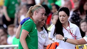 Louise Quinn went off injured against Norway