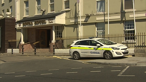 The man was found unconscious outside the Royal Hotel in Bray yesterday morning