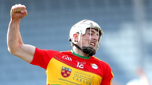 James Doyle hit a hat-trick for Carlow as they secured their place in the Joe McDonagh Cup final