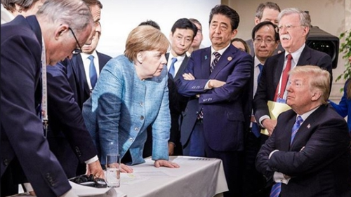 This photo of world leaders at last year's G7 summit went viral