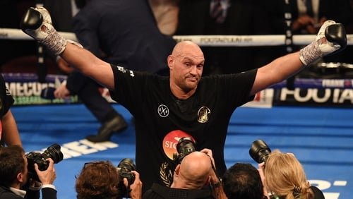 Tyson Fury beat Sefer Seferi in heavyweight boxing return