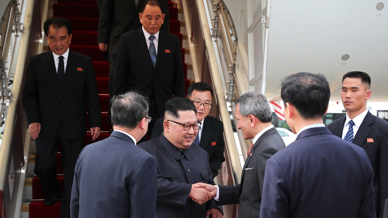 Image result for US President Donald Trump and North Korean leader Kim Jong-un have arrived in Singapore for their historic summit.