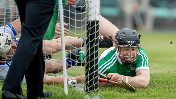 Graeme Mulcahy scores a first-half goal for Limerick