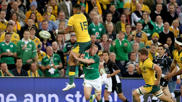 Keith Earls looks set to miss the second Test against Australia