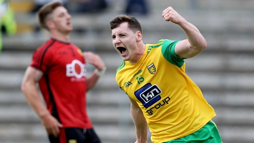 Jamie Brennan celebrates his goal