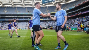 Dublin's Ciaran Kilkenny and Jack McCaffrey following the victory over Longford