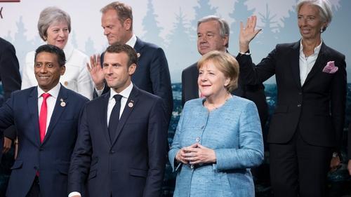 Angela Merkel pictured at the G7 summit