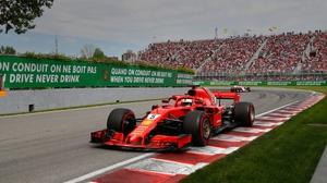 Sebastian Vettel won the Canadian Grand Prix despite the early flag