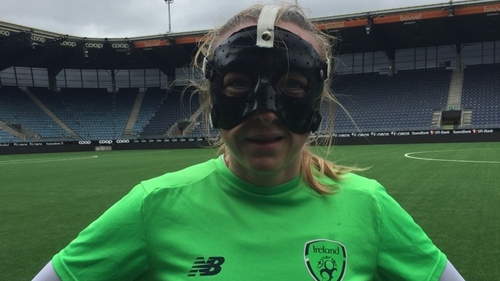 Louise Quinn broke her nose on Friday night