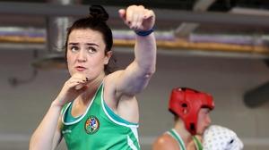 Kellie Harrington was beaten on a 4-1split decision