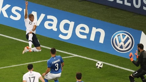 France awarded controversial penalty after first VAR review in World Cup history