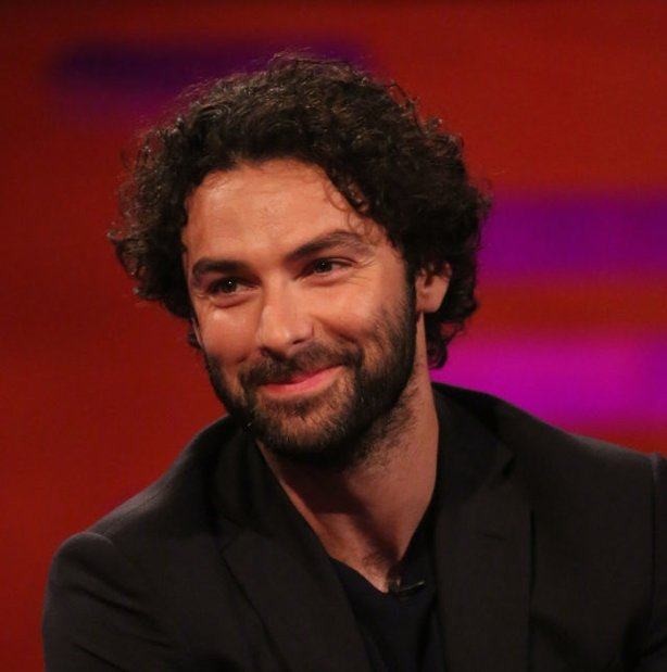 Aidan Turner during the filming of the Graham Norton Show