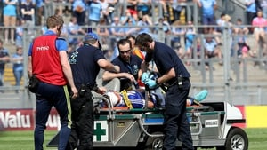 Stephen Attride was injured near the end of their win over Carlow