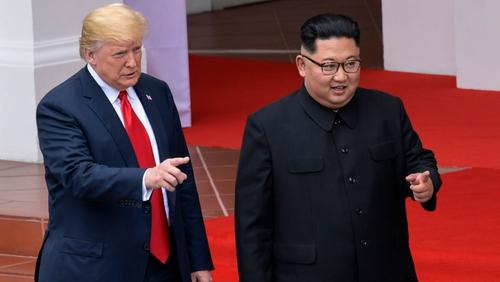 Donald Trump met Kim Jong-un in Singapore last June