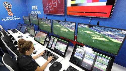 The FIFA VAR room in Moscow