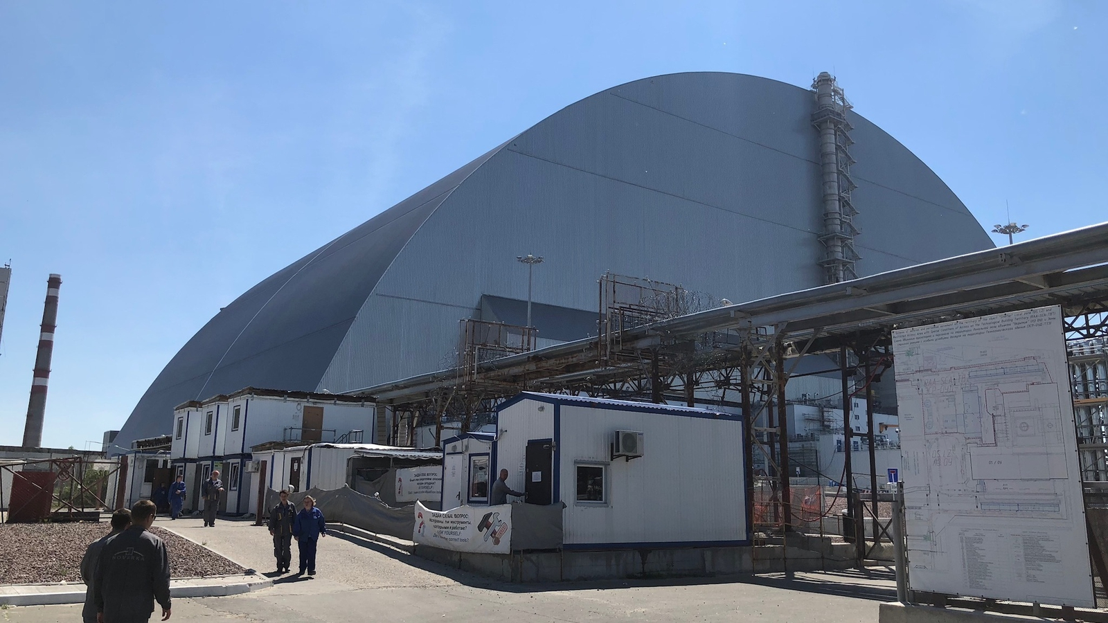 Image - The New Safe Confinement unit at the Chernobyl plant